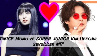 TWICE Momo ve SUPER JUNIOR Kim Heechul Sevgililer Mi