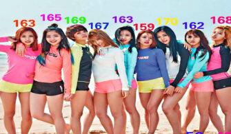 kpop kız grup boy farkı