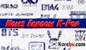 Noms Fandom K-Pop