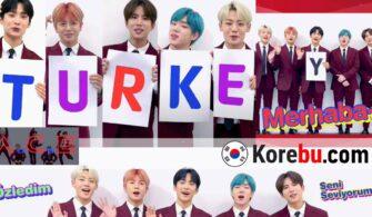 TURKEY harfleri