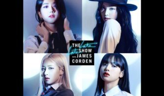 blackpink james corden