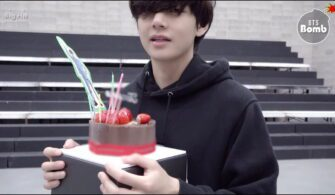 bts v strawberry cake